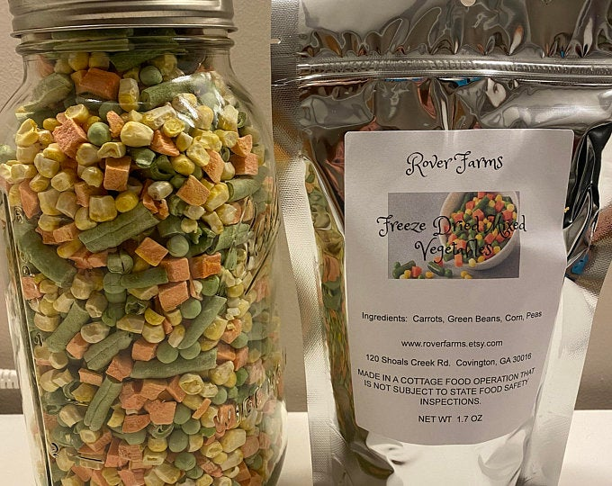 Freeze Dried Mixed Vegetables LOCAL PICK UP ONLY