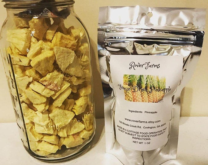 Freeze Dried Pineapple LOCAL PICK UP ONLY