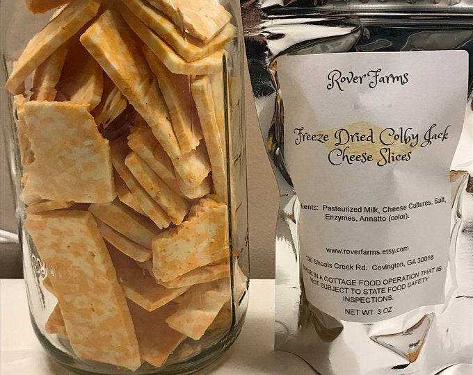 Freeze Dried Colby Jack Cheese Pieces