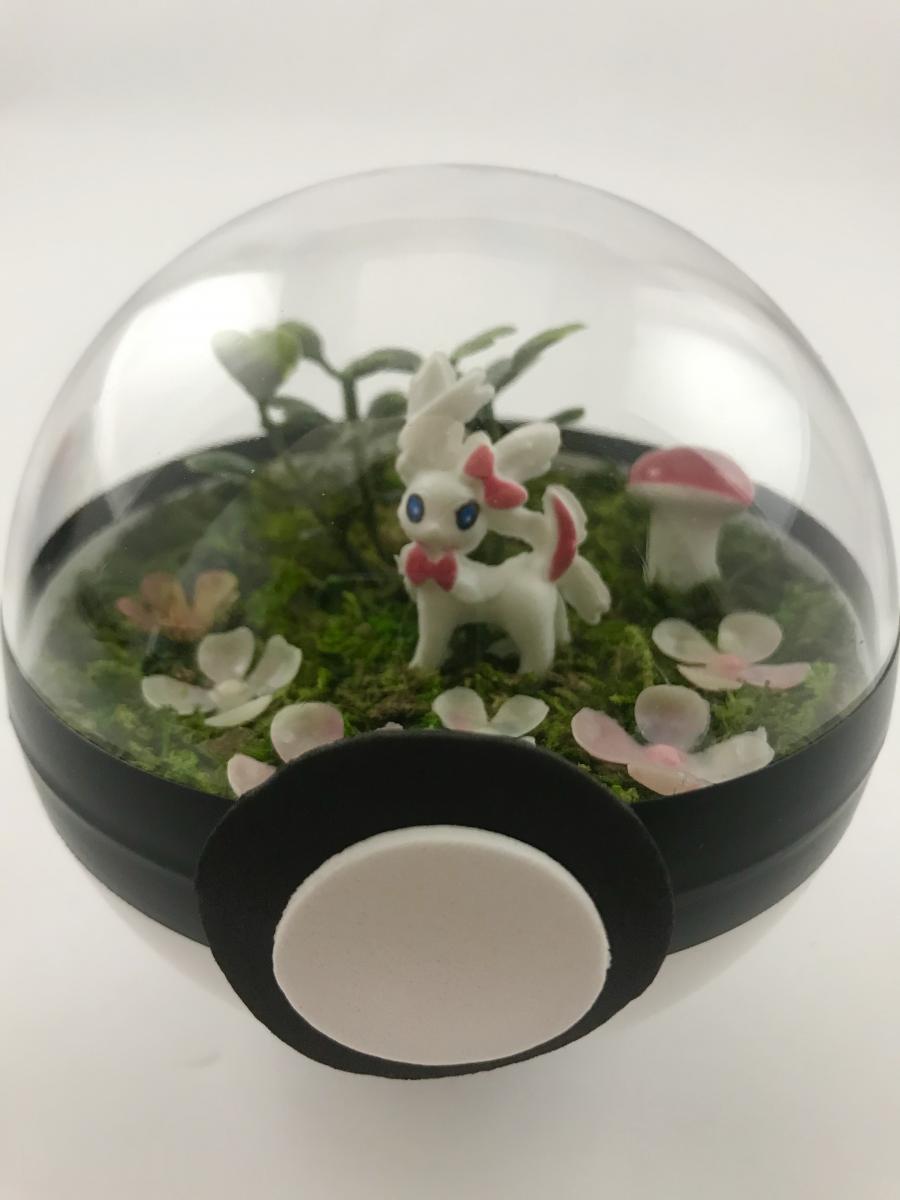 Sylveon Fairy Forest Small Pokeball Terrarium Eventeny
