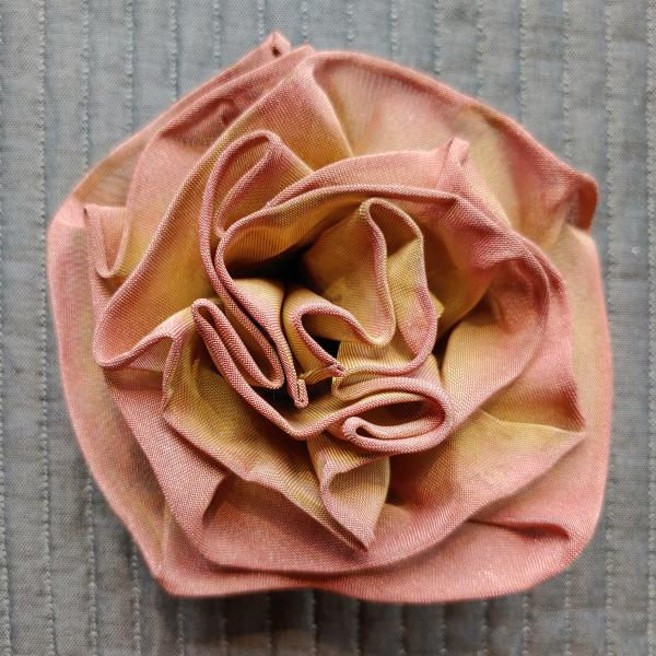 Folded Rose of fine wire mesh
