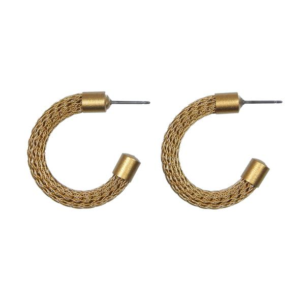 Small Viking Knit Hoop Earring picture