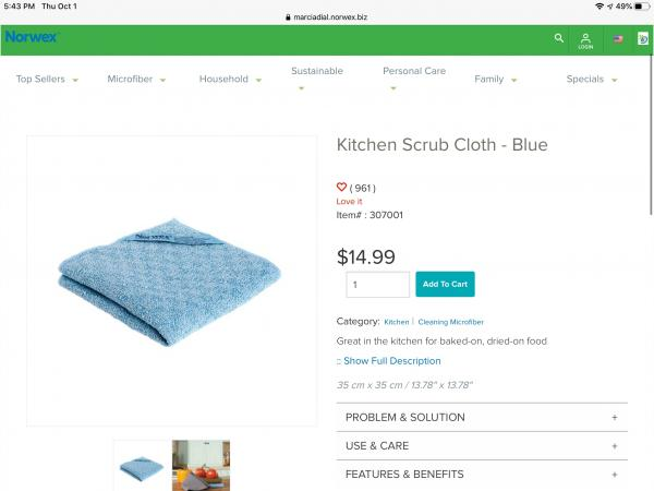 Kitchen Scrub Cloth-Blue