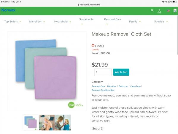 Makeup Removal Cloths (3 come in set)
