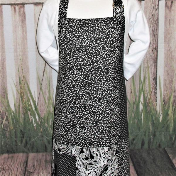 Kids Reversible Full Bib Apron w/Adjustable Neck Strap