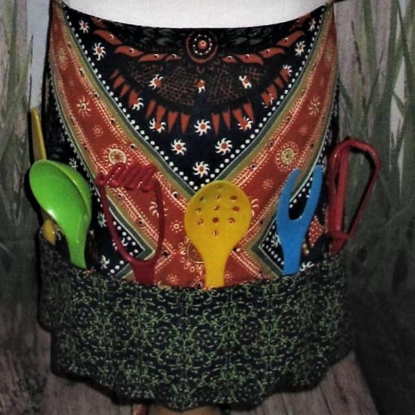 Kids Half Apron w/Cooking Utensils