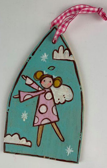Angel Ornament (Pink Polka Dot)