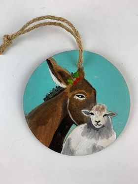 Nativity Donkey/Sheep Ornament