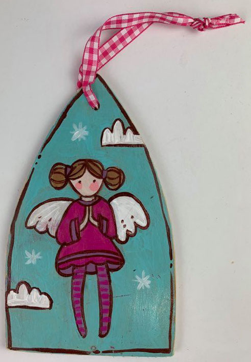Angel Ornament (Fuchsia)