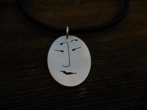 Unmentionables sterling silver oval pendant LY N 3335
