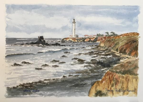 Pigeon Point Lighthouse from south.