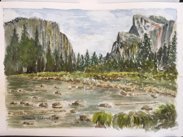 Yosemite Valley, wooden tray