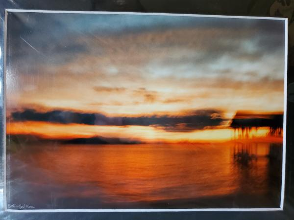 "9x12 Matted Print - ""Southern Summer Sunset Sky"""
