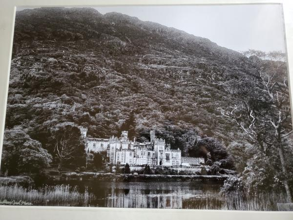"14 x 18 Matted Print - ""Kylemore Abbey in Black & White"""