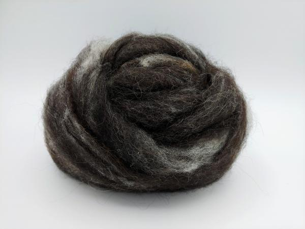 """Black Marble"" Finnsheep and Alpaca Blend Roving - sold by the ounce"