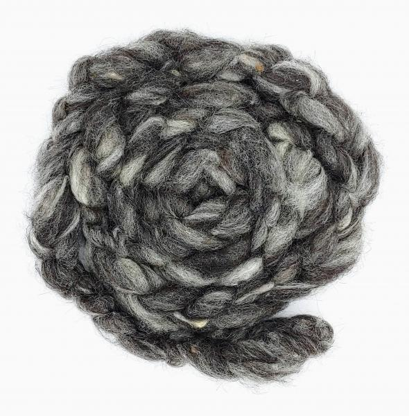 """Shades of Grey"" Finnsheep/Alpaca Roving - sold by the ounce"