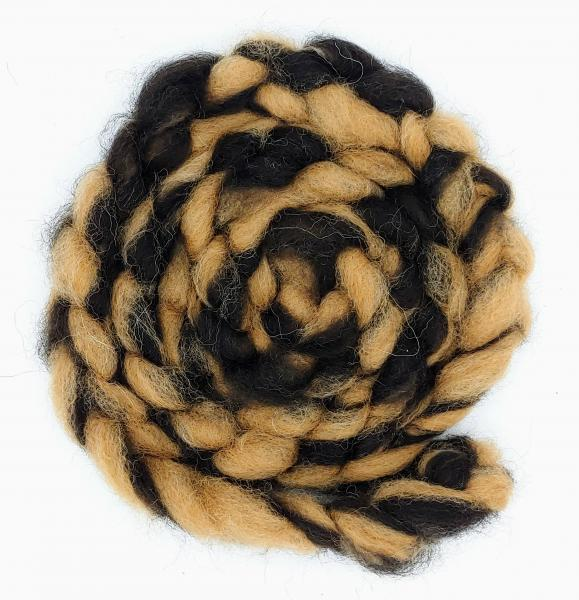 """Bengal"" Finnsheep and Alpaca Swirl Roving - sold by the ounce"