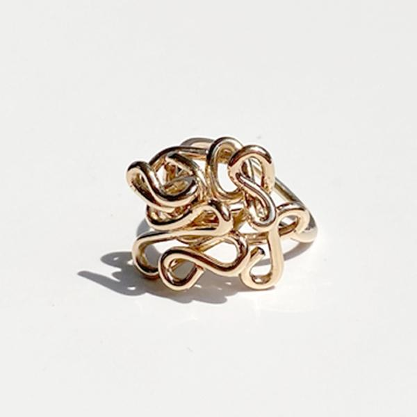 Hand Sculpted 14k Gold Ring - Gold Goddess