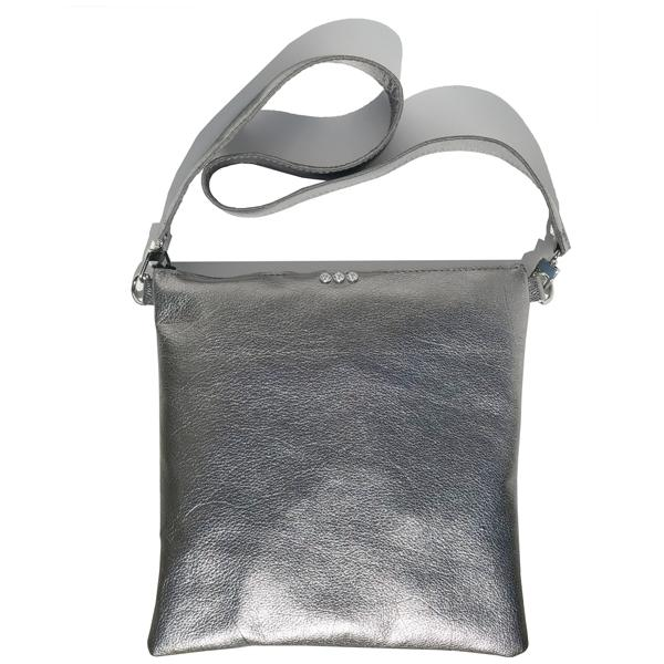 Metallic Leather Large Strap Bag 39 – Swarovski + Pouch Accessory