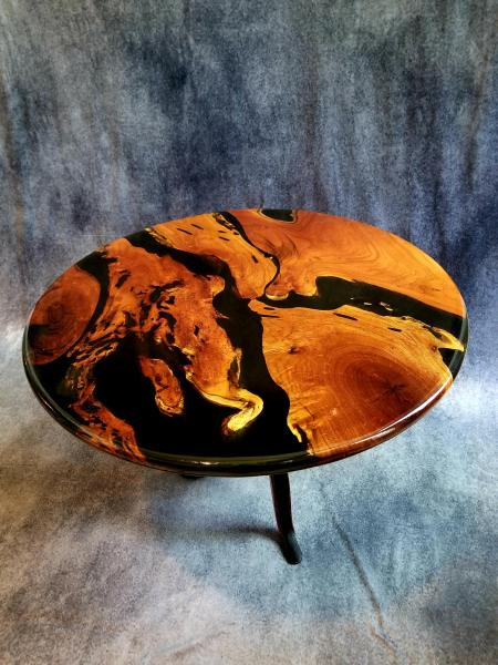 Mesquite Resin Table (Crank base)
