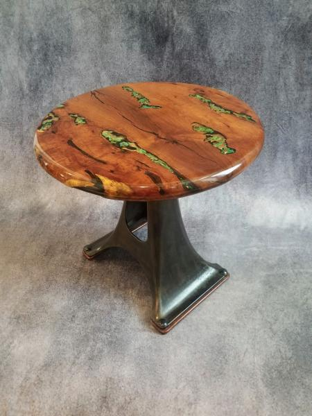 "Mesquite ""creamer base"" side table"