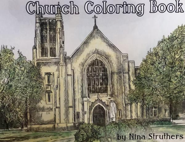 Beautiful Churches Coloring Book