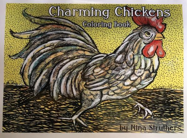 Charming Chickens Coloring Book
