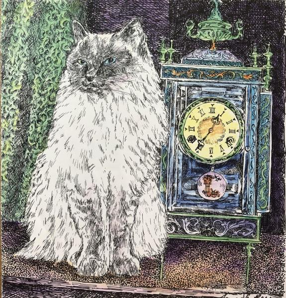 Cat and Clock