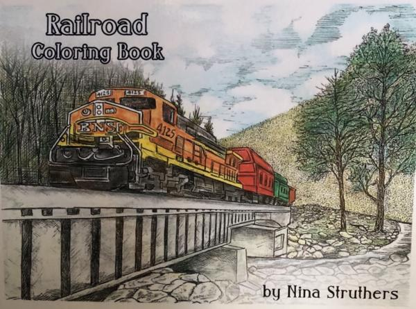 Railroad Coloring Book