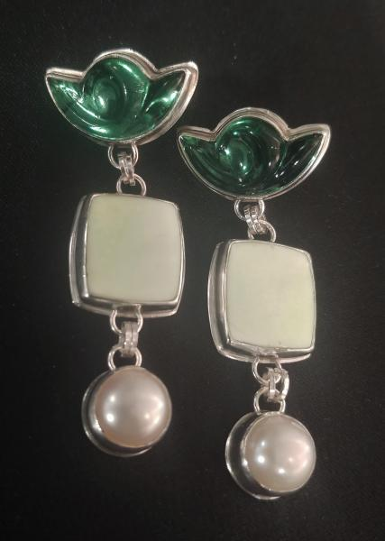 Lemon Chrysoprase & Vintage Glass picture