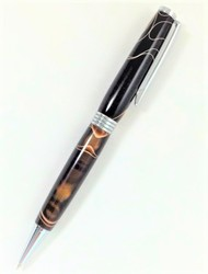 Brown with White Lamar Pen