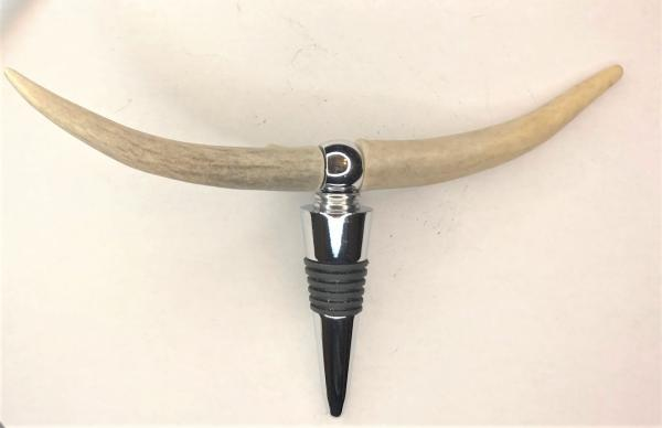 "Antler ""Longhorn"" Combination Bottle Stopper/Corkscrew"
