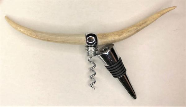 "Antler ""Longhorn"" Combination Bottle Stopper/Corkscrew picture"