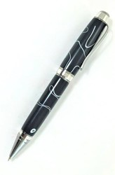 Black with White Bradley Pen