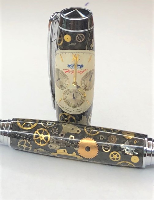 Ford Racing Watch Parts Fountain Pen or Rollerball
