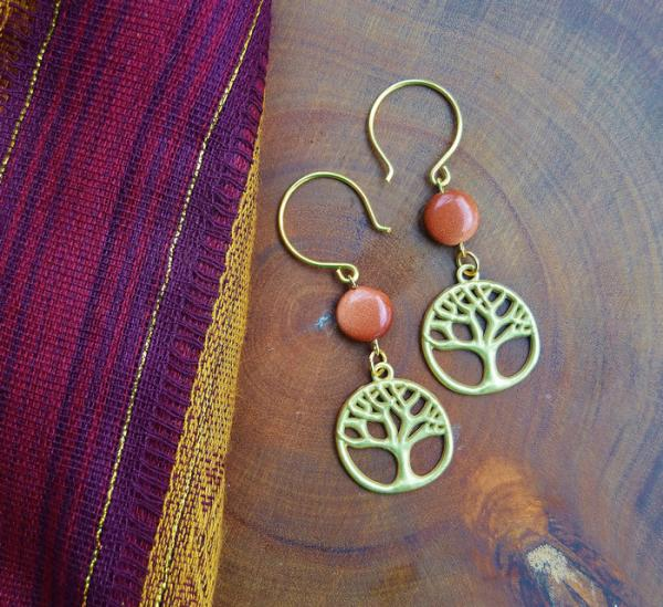 Gold Tree of Life with Goldstone