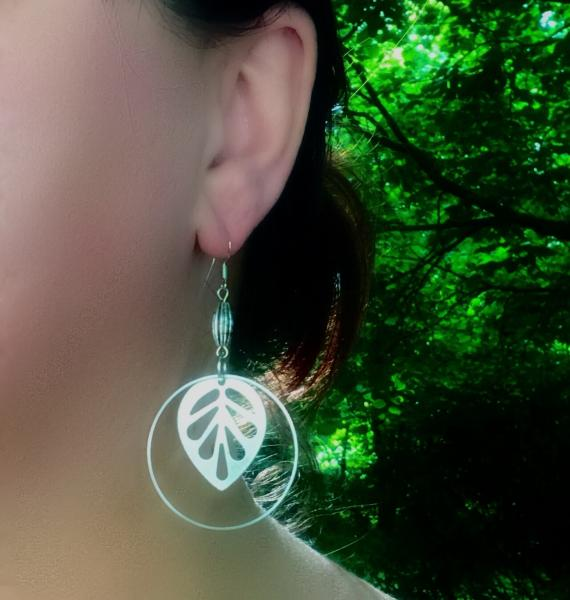 Antique Silver Leaf Earrings picture