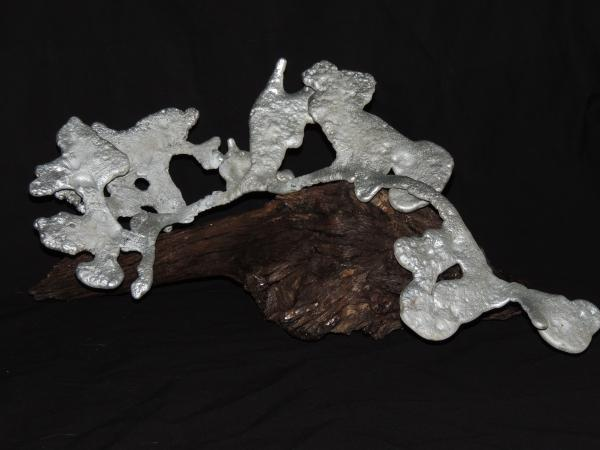 Medium Silver Harvester on Driftwood H114