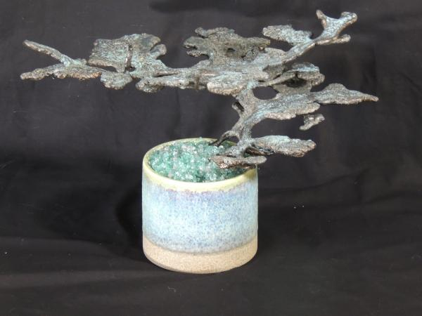 Medium Bronze Harvester in Blue vase H111