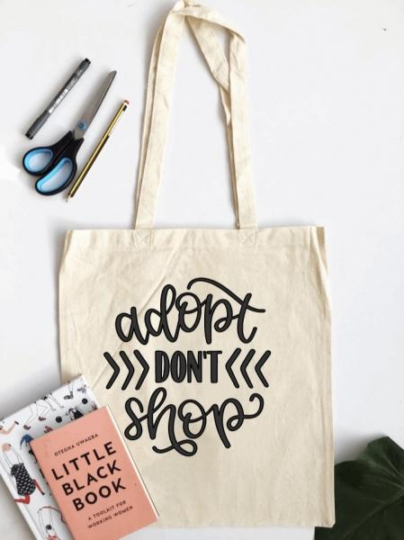 Adopt don't Shop - Tote Bag