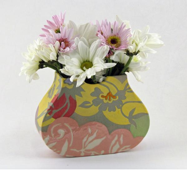 Small Spring Pink Pouch Vase