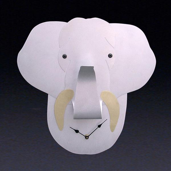 Large Elephant Wall Clock