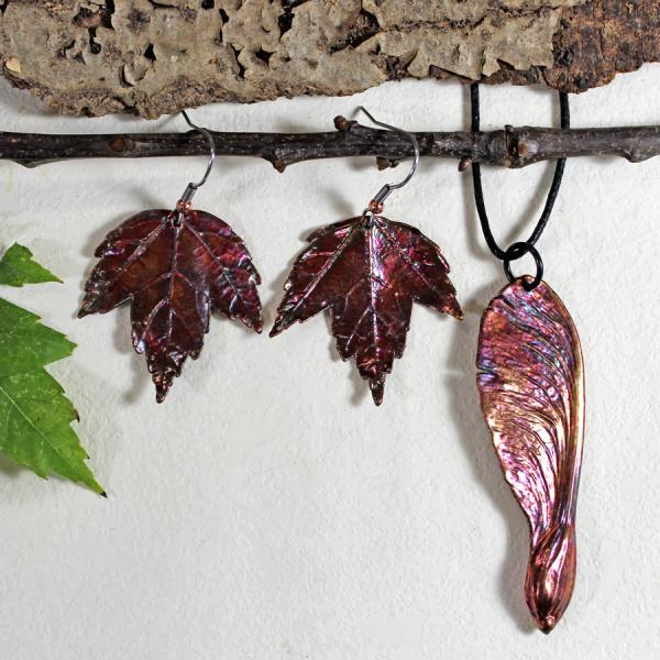 Maple Earrings and Samara Pendant