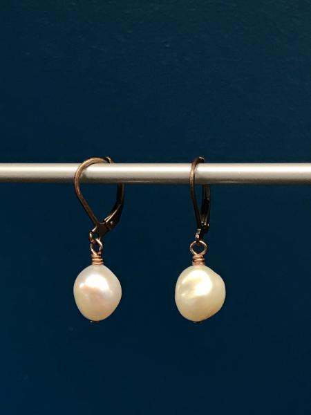White Pearl Earrings picture
