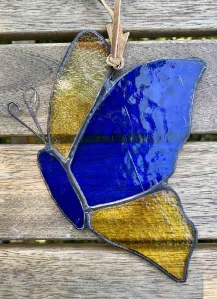 Stained Glass Butterfly Suncatcher - Profile view