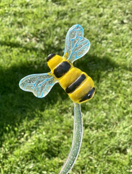 Fused Glass Bee Stake