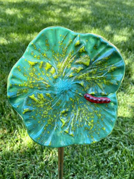 Fused Glass Hibiscus Flower picture
