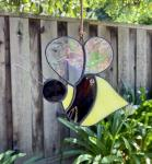 Stained Glass Bee Suncatcher