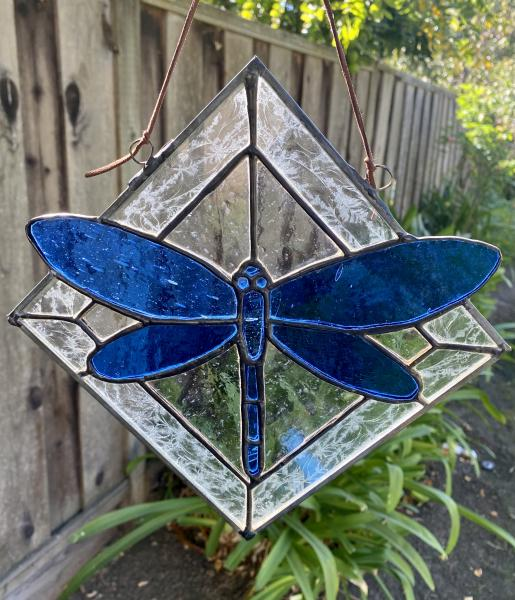 Stained Glass Dragonfly Panel