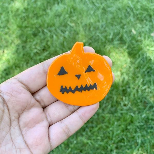 Fused Glass Jack O Lantern Magnet picture